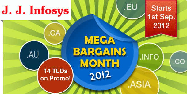 Mega Bargains Month for Domain Registrations